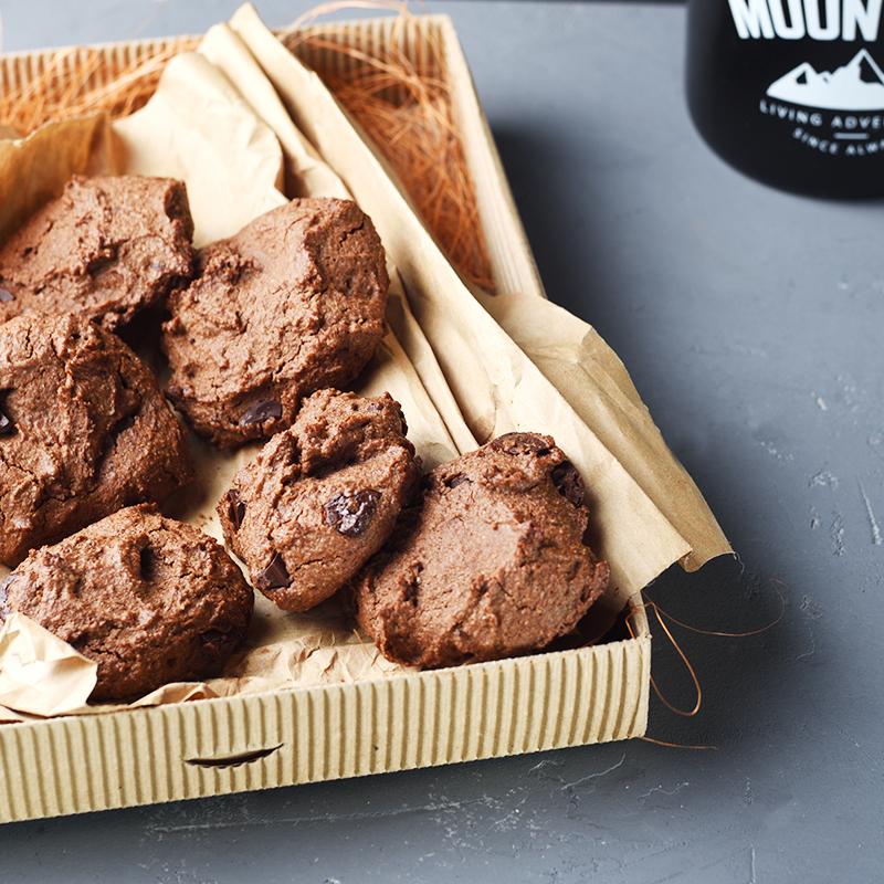 печенье из гречневой муки с шоколадом
