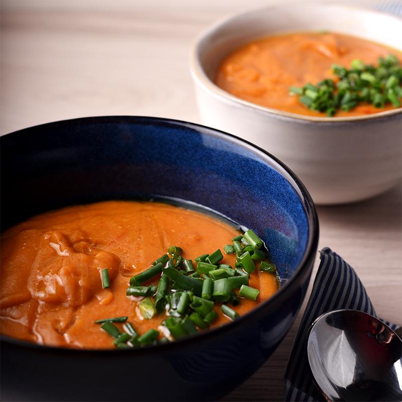 Суп-пюре с бататом и чечевицей